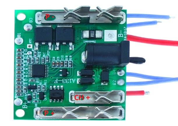 BMS Контроллер Makita (Плата защиты шуруповерта) Li-Ion 5S 18...21V 30