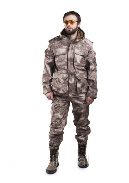 Весняний-осінній костюм для полювання та риболовлі Димок, температура комфорту - 10с