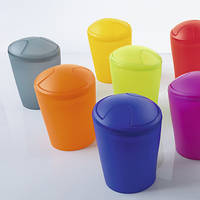Ведро для мусора Spirella MOVE белое, киви, синее, красное, оранжевое, желтое, серое