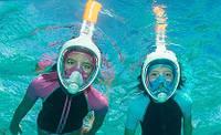 Маска подводная для снорклинга с дыханием через нос S/M
