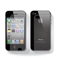 Защитная пленка TTech для iPhone 4G 2в1 (задняя и передняя), глянцевая