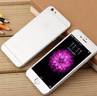 Защитное стекло для iPhone 6/6s 2в1 матовое с эффектом металла, серебро