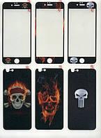 Защитное стекло для iPhone 6/6s 2в1 TTech c рисунком
