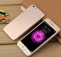 Защитное стекло для iPhone 6/6s 2в1 матовое с эффектом металла, золотое