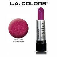 Насыщенная глянцевая помада L.A. Colors Vitamin E & Aloe Vera Lipstick Purple Passion