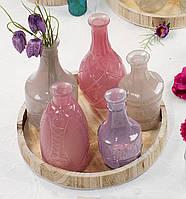 Набор стеклянных ваз 33 см
