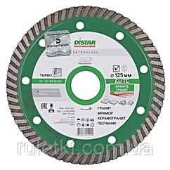 Алмазный диск по граниту Distar 125мм, 22,2мм Turbo Elite