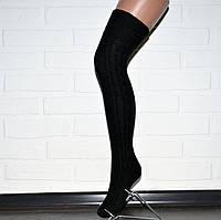 Заколенки гольфы черные женские, гетры выше колена