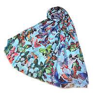 Шарф Butterfly голубой 80*180