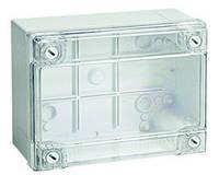 Коробка відгалуж. з гладкими стінками, прозора кришка, IP56, 300х220х120мм(54320)