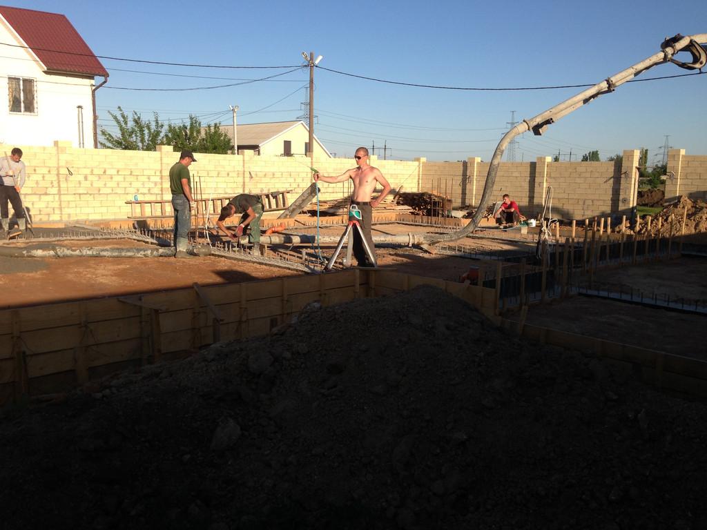 Строительство фундамента ( Частный дом 250 м.кв.) 21