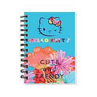 Блокнот А6 (80 листов, пластик, спираль) KITE 2017 Hello Kitty 226 (HK17-226)