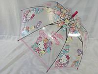 """Детский прозрачный зонтик """"Hello Kitty"""" № 010 от фирмы Paolo"""