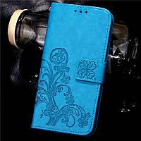 Чехол для Samsung Galaxy J5 2016 J510 книжка Clover женский blue