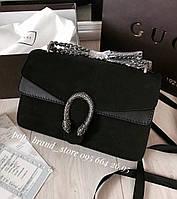 Крутая сумочка Гуччи DIONYSUS BAG замша