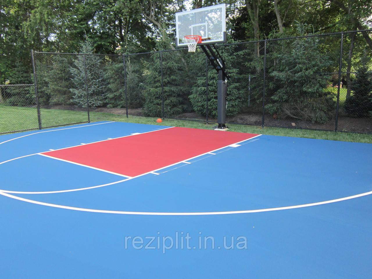 Спортивное покрытие для баскетбольной площадки
