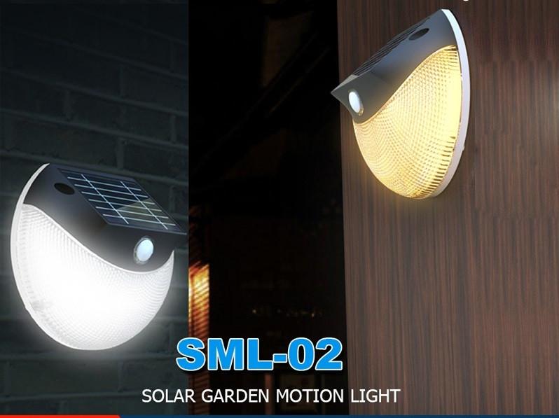 Лампа с датчиком движения на солнечных батареях