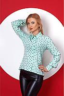 Стильная женская молодежная рубашка мятного цвета