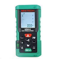 Лазерный дальномер ( лазерная рулетка ) Mastech MS6414 (0,046-40 м) проводит измерения V, S, H, память 99, фото 1