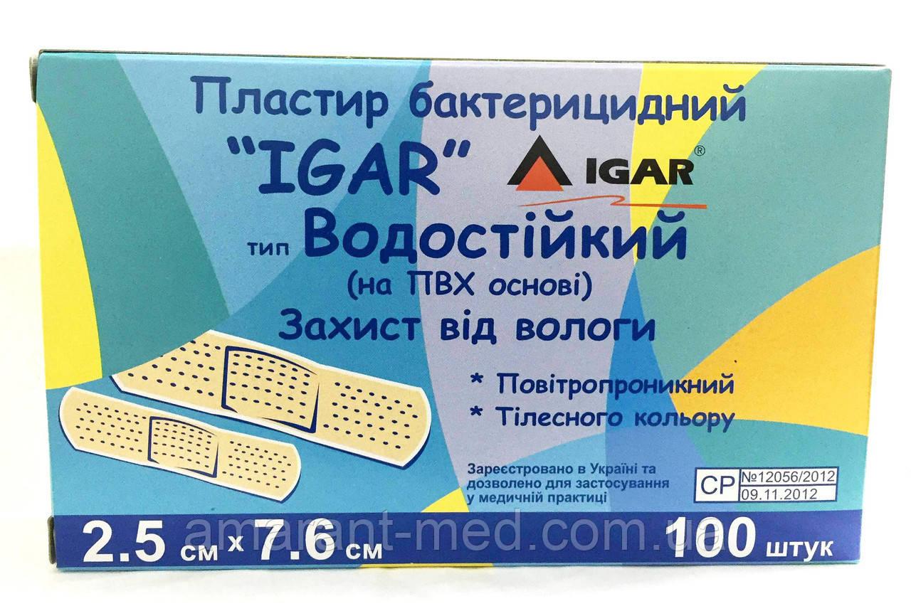 """Пластир бактерицидний """"Ігар"""" 7,6*2,5 класичний (основа коттон)"""