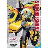 Цветная бумага (двухсторонняя) А4 KITE 2016 Transformers 250 (TF16-250)