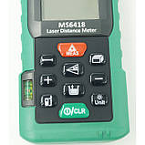 Лазерний далекомір ( лазерна рулетка ) Mastech MS6418 (0,046-80 м) проводить вимірювання V, S, H, пам'ять 99, фото 3