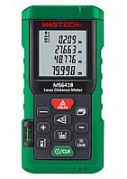 Лазерный дальномер ( лазерная рулетка ) Mastech MS6418 (0,046-80 м) проводит измерения V, S, H, память 99, фото 1