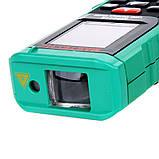 Лазерний далекомір ( лазерна рулетка ) Mastech MS6418 (0,046-80 м) проводить вимірювання V, S, H, пам'ять 99, фото 6
