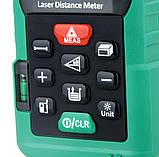 Лазерний далекомір ( лазерна рулетка ) Mastech MS64100 (0,046-100 м) проводить вимірювання V, S, H, пам'ять 99, фото 2