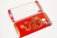 Защитное стекло для Samsung Galaxy S7 Edge с рисунком дракона и загнутыми краями, красное