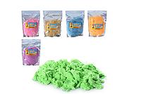 Кинетический цветной песок в пакете, 6 цветов, 1 кг