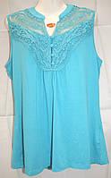 Майка-блуза 48,50,52 Гипюр
