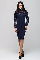 """Женское облегающее платье с гипюром """"Жаклин"""" в разных цветах"""