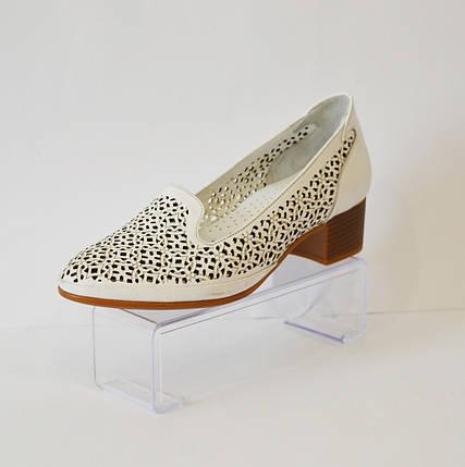 Женские белые летние туфли Euromoda 120, фото 2