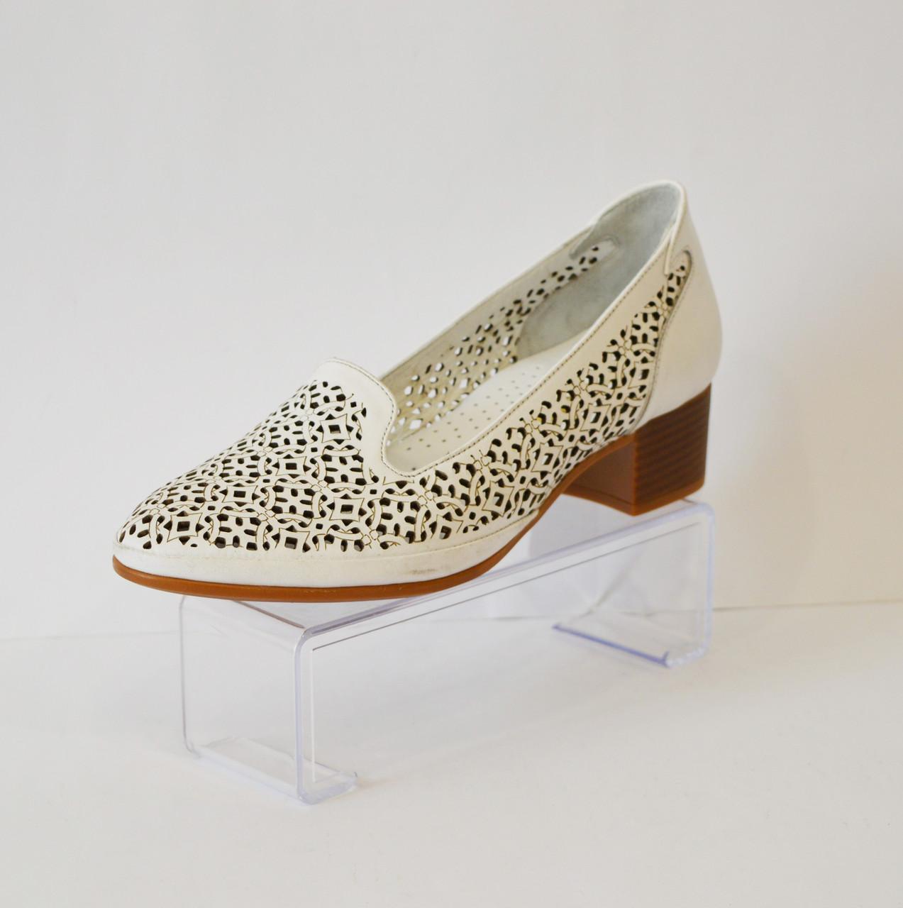 Женские белые летние туфли белые Euromoda 120