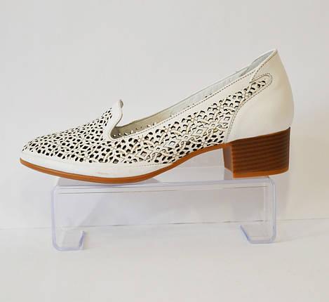 Женские белые летние туфли белые Euromoda 120, фото 2