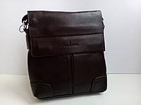 Мужская сумка планшетка кожа pu fashion темно коричневая 24*25