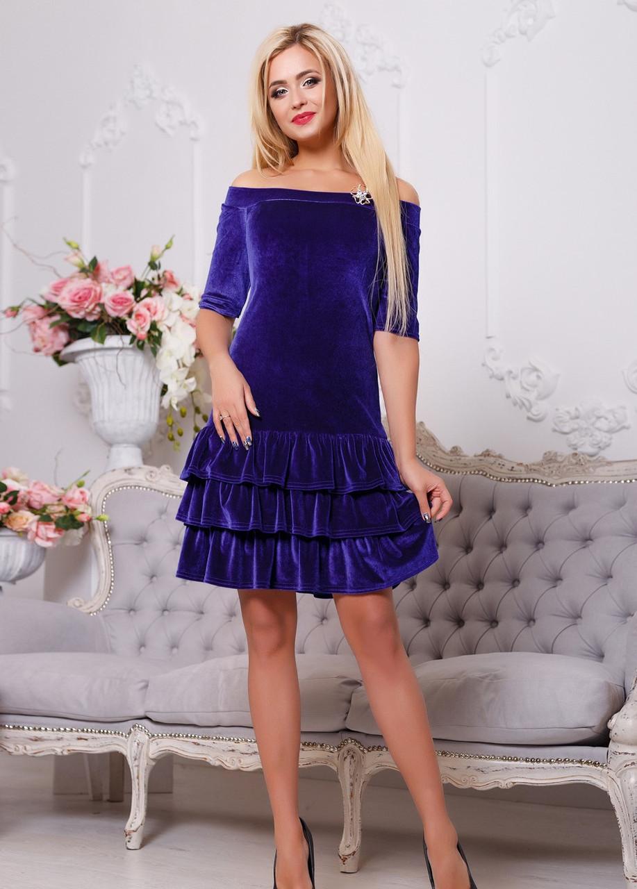 Платье вечернее шикарное с велюра