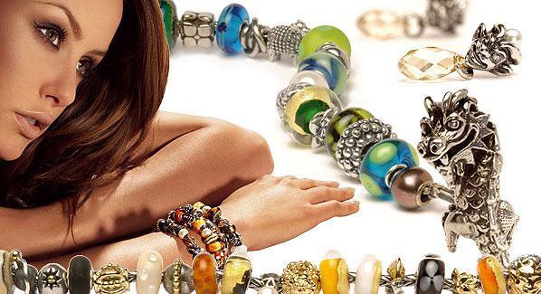 Бусины, браслеты в стиле Pandora