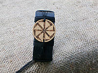 Кожаный браслет ГРОЗОВИК на руку, ручная работа