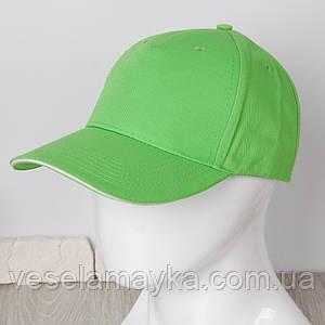 Ярко-зеленая кепка-сэндвич с белой вставкой