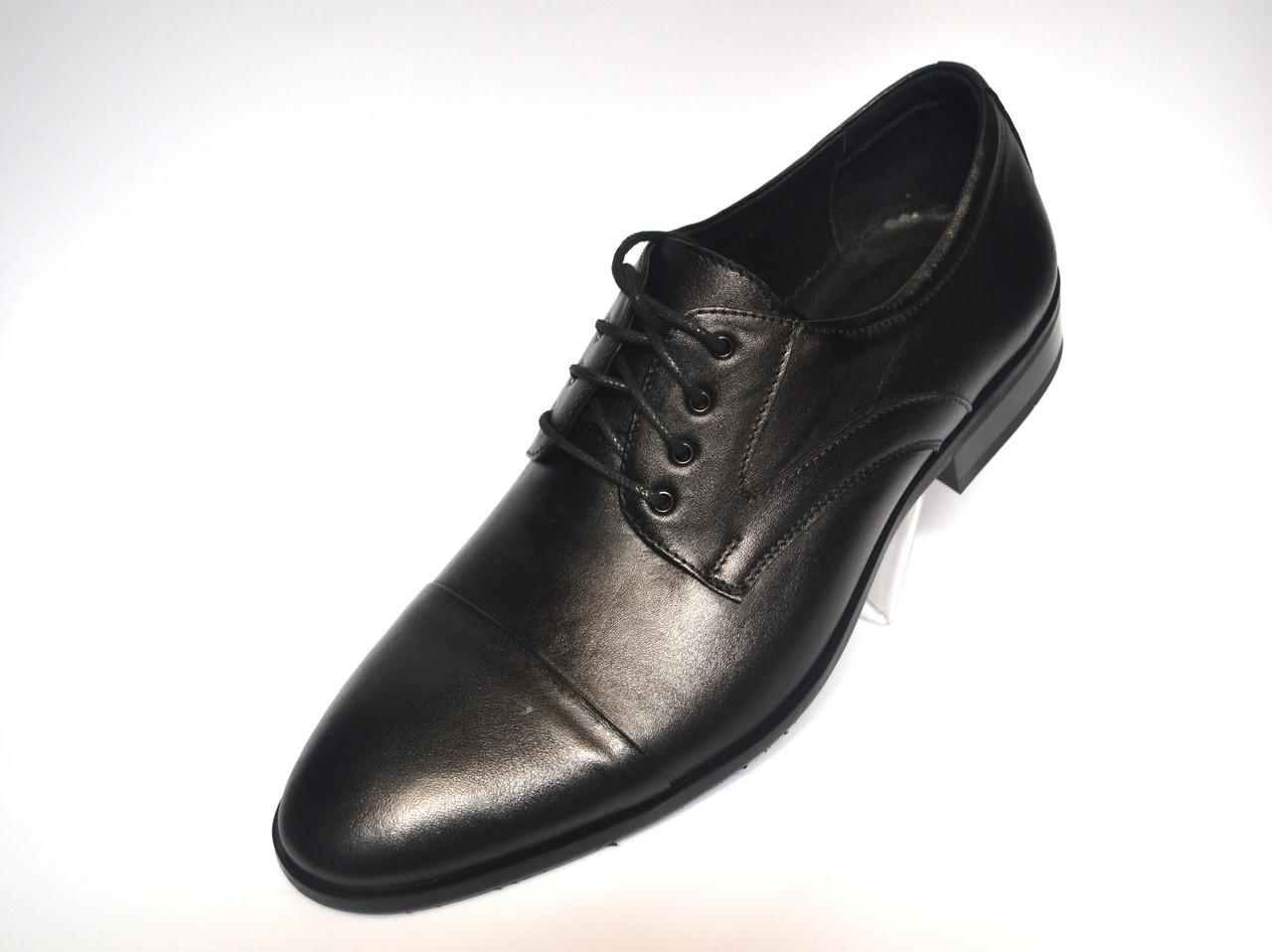 Туфли дерби мужские кожаные классические черные Rosso Avangard FeliceteZo Derby Black