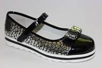 Шикарные туфельки для девочек ТМ Clibee 32,33,35р., чёрные