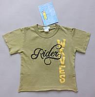 Детская летняя футболка хлопок сток на ребенка италия Iana 6 9 мес рост 68 74