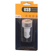 Автомобильная зарядка на 2 USB (2+1A) 12/24V TLR 148SR блистер (белая + серебро)