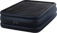 Двуспальная надувная кровать интекс 64440 + насос встроенный 220 Вольт