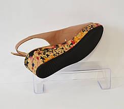 Женские бежевые босоножки Guero 14906, фото 2