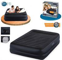 Двуспальная надувная кровать интекс 64424 + насос встроенный 220 Вольт