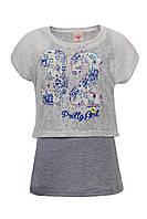 Майка и топ Glo-story для девочек; 140 размер