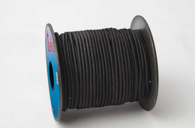 1,5 mm Round Elastic / 20 m / Black, фото 2